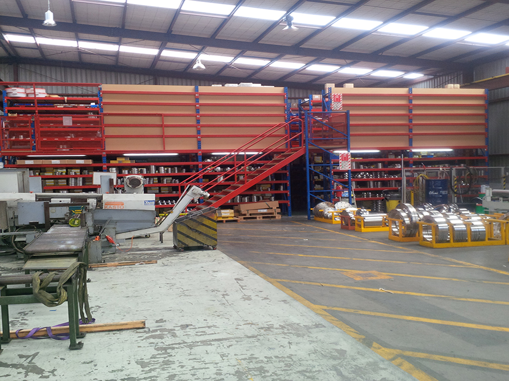 This Additional Mezzanine Can Be Used For A Storage Area, Process Work, Or  Light Manufacturing.